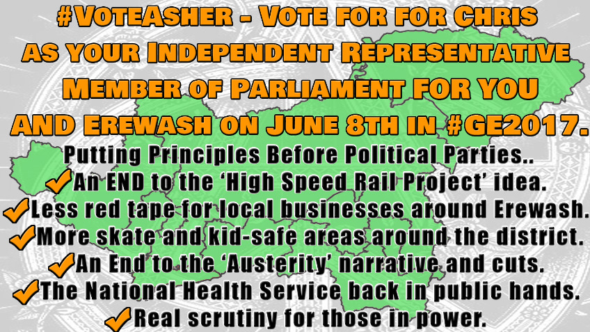 #VoteAsher - Chris Asher for Erewash MP in #GE2017