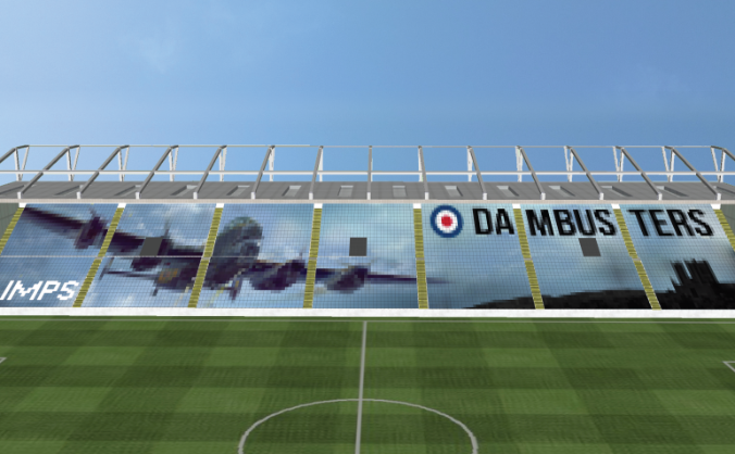Lincoln City FC's tribute to the Dambusters