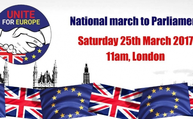 Unite for europe - national march to parliament image