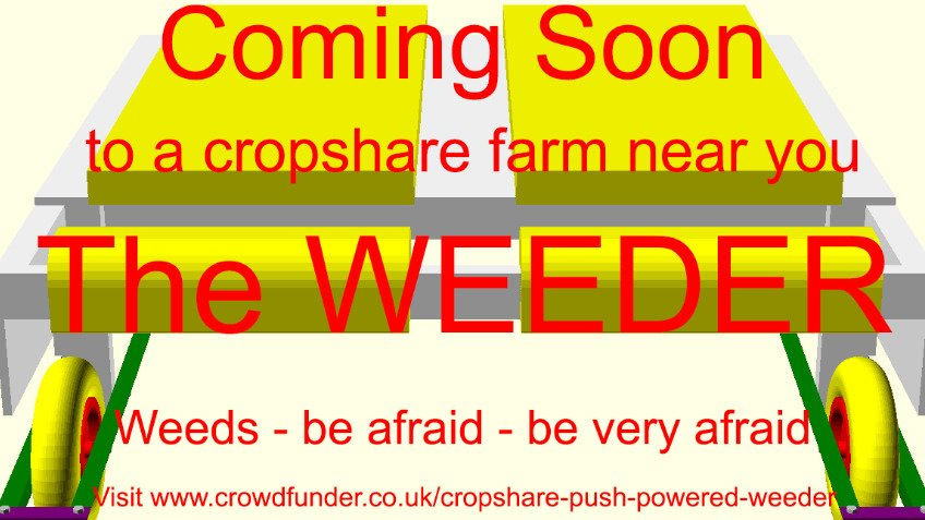 Cropshare push-powered weeder