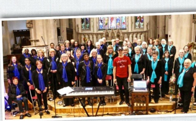Charity weekend for the wellbeing choir image