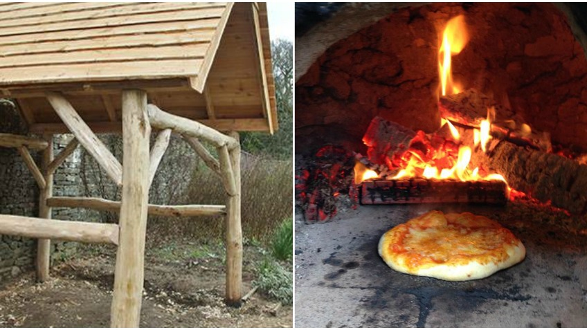 Timber Framed Shelter for Community Cob Oven