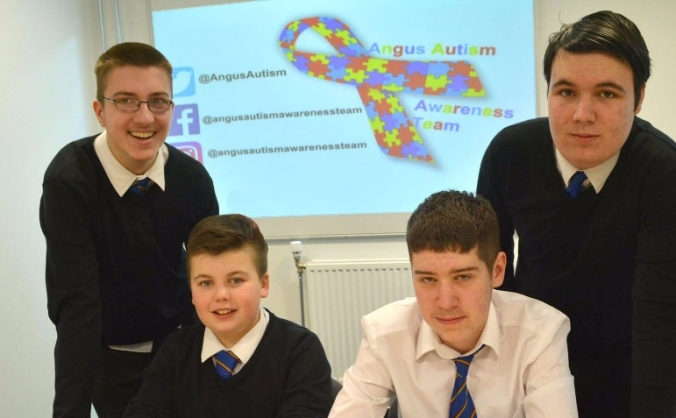 Angus autism awareness team image