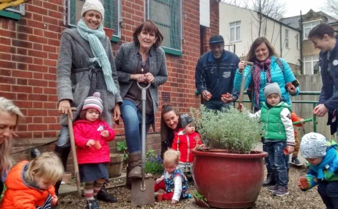 Lewisham irish  communty allotment project image