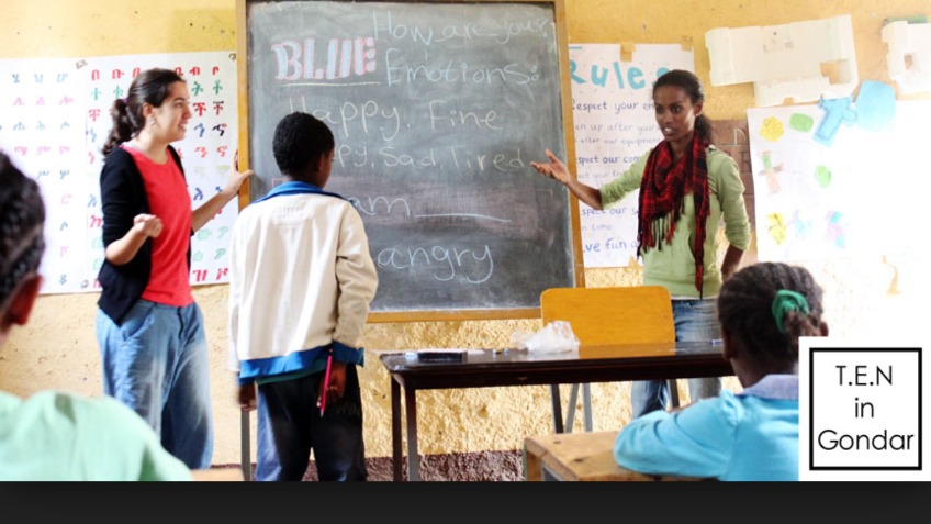 Project T.E.N. Ethiopia volunteer in education