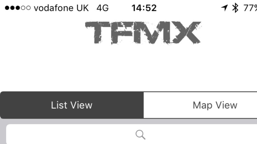 Motocross Track Finder app for iPhone