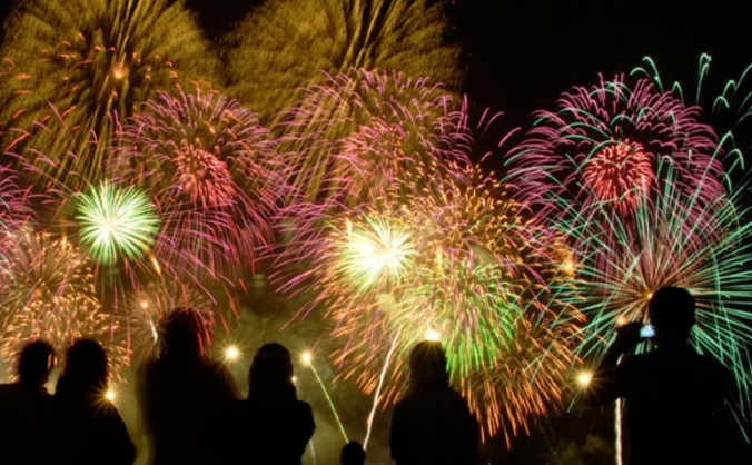 Catford south fireworks image