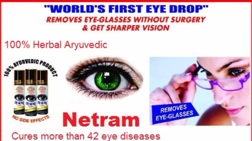 Netram : World's first Eye drop -Removes Eye Glass