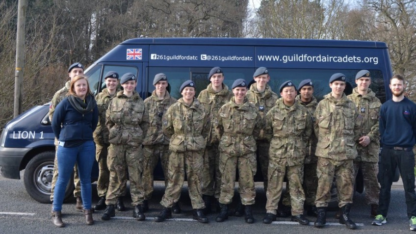 New minibus for Guildford Air Cadets