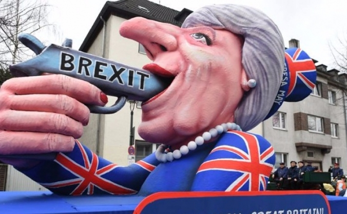 The theresa may float- stop brexit tour image