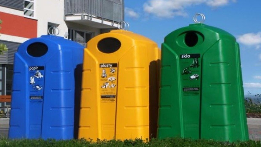 Containers for household waste.