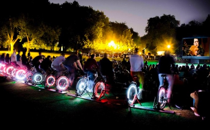 Pedal-powered cinema for frome image