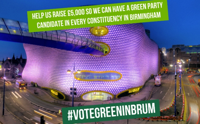 Birmingham green party election fundraiser image