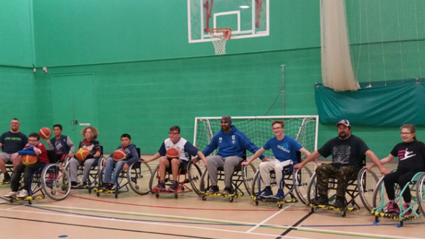 Rochdale Raptors Wheelchair Basketball Team