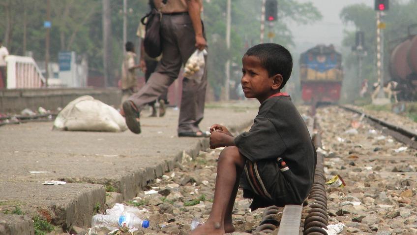 People helping the poor