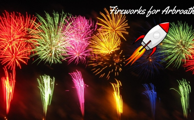 Fireworks for arbroath 2015 image