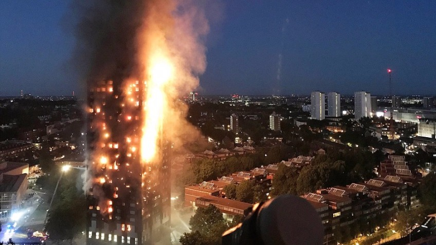 Relief for Grenfell Tower fire disaster White City