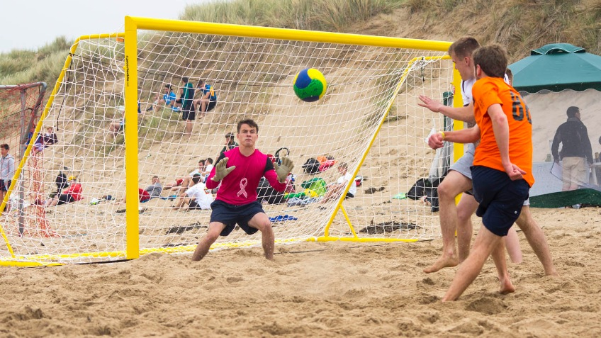 Get ND's Beach Soccer boys to the Nationals!