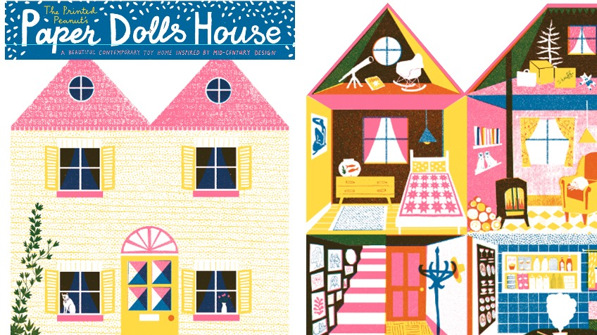 The Printed Peanut's Paper Doll's House