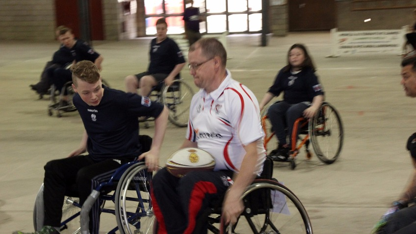 Wheelchair Rugby 7's Wales V England Match