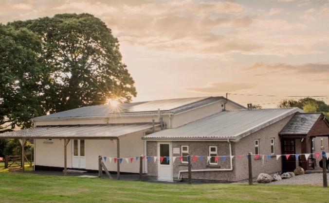 "South hill parish hall ""power the night with sunlight""... image"