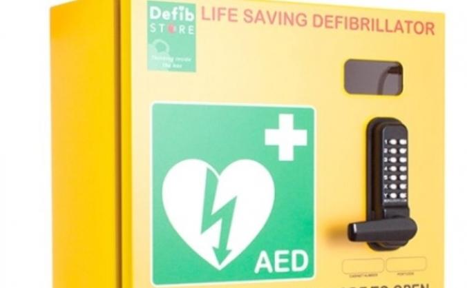 Dunmow rhodes / flitch green defibrillator cabinet image