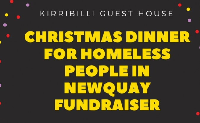 Christmas dinner for newquay homeless with raj! image