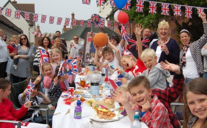 Party for the homeless on royal wedding day image