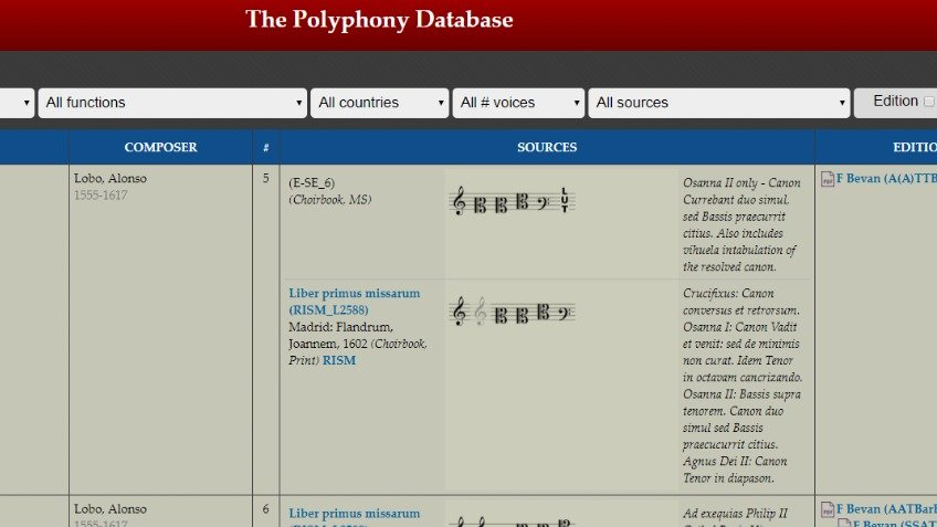 Polyphony Database improvements