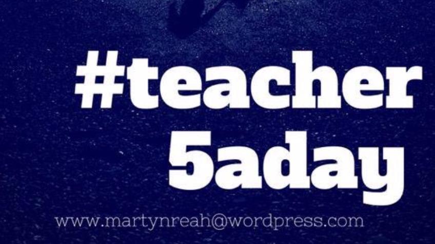 #Teacher5aday Journal