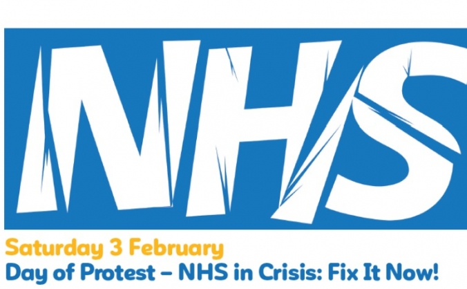 Support the nhs emergency demonstration image