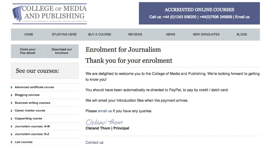 Top Up - Journalism Course