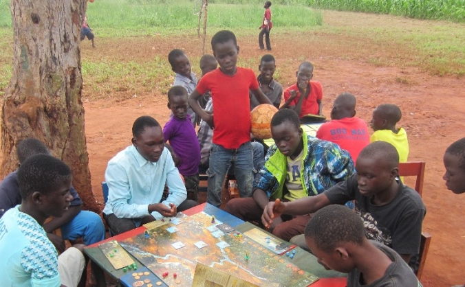 Uganda village board game convention 2018 image