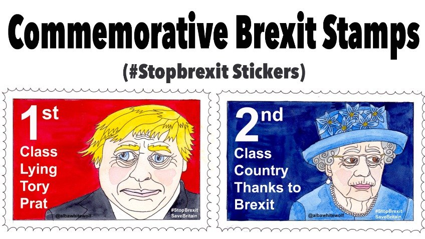 Commemorative Brexit Stamps (Stickers)