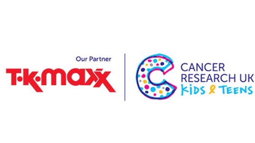 Raising money with tk maxx for kids with cancer.