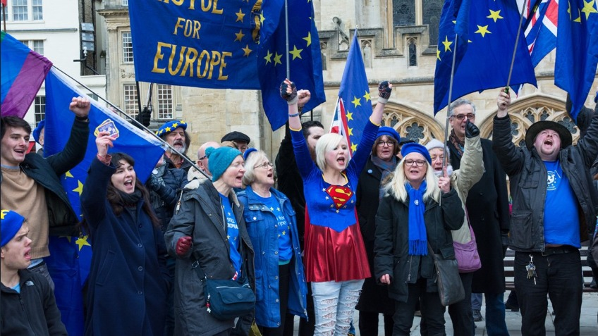 29th March EU Super Hero Protest