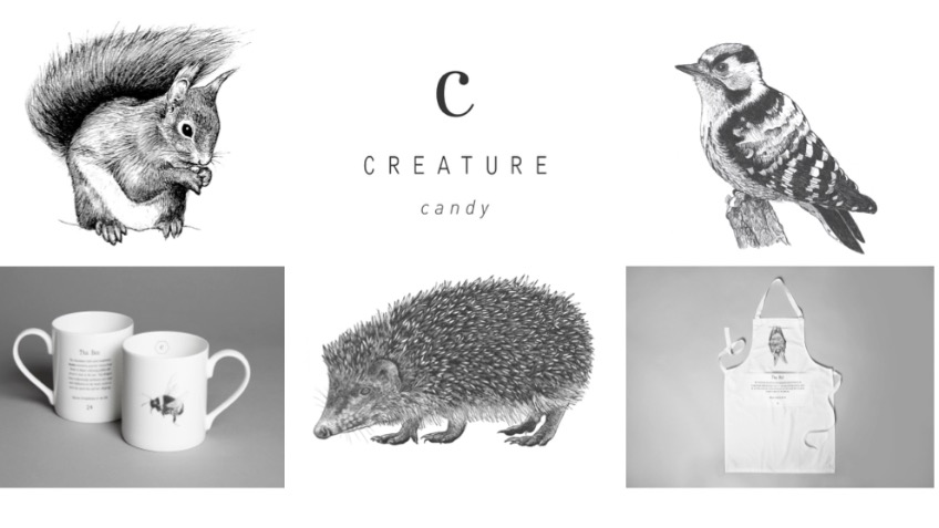 Creature Candy Hedgehog, Squirrel & Bird Designs