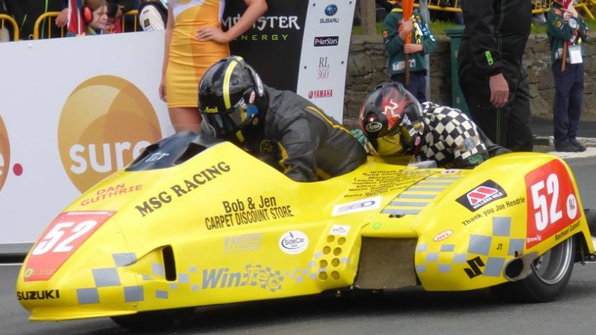 Sidecar team competing at 2016 Isle of Man TT