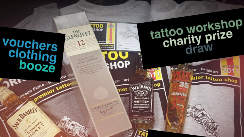 Tattoo Workshop Charity Prize Draw