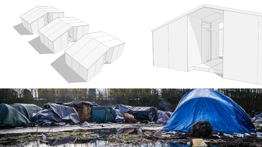 Emergency Shelters for Calais Refugees