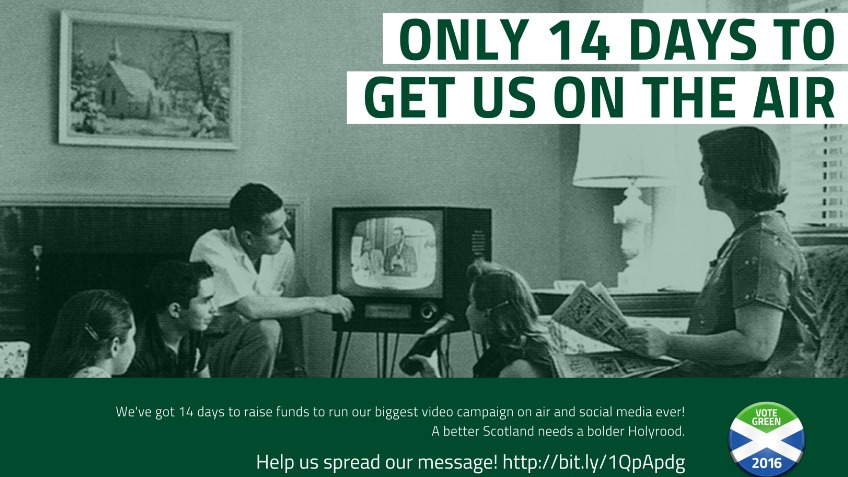 14 Days To Get On Air #GreenHolyrood
