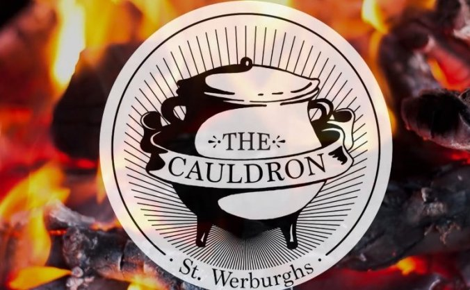 The cauldron restaurant - a kitchen on fire! image
