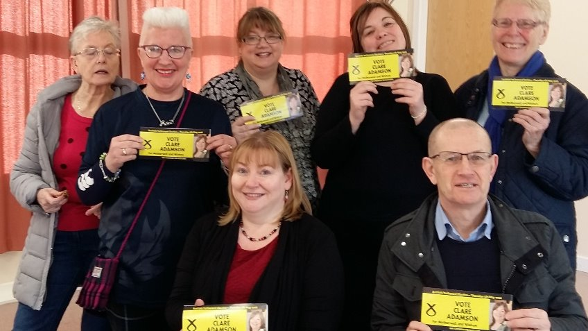 Elect Clare Adamson SNP for Motherwell and Wishaw