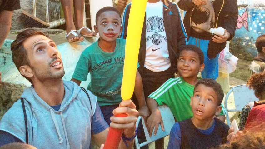 Rome marathon for Kids of Rosinha in Rio