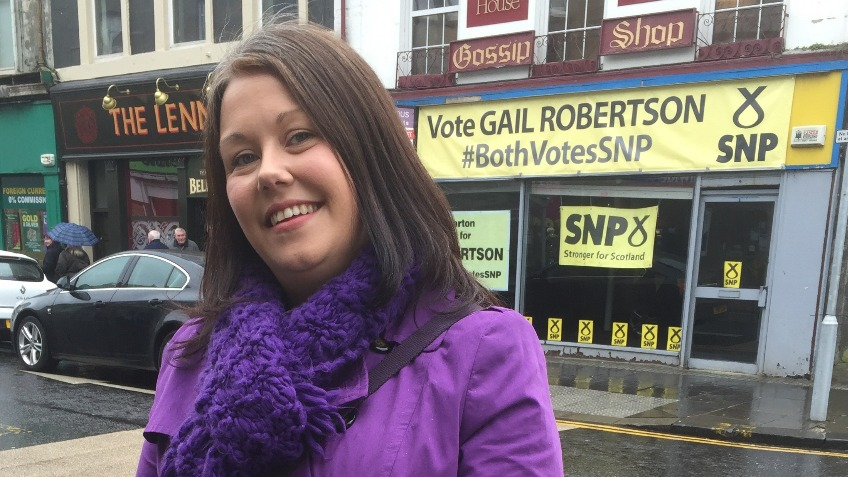 Gail Robertson SNP for Dumbarton Constituency