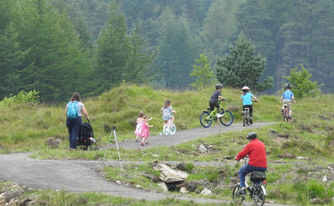 Strathfillan community bike skills park image