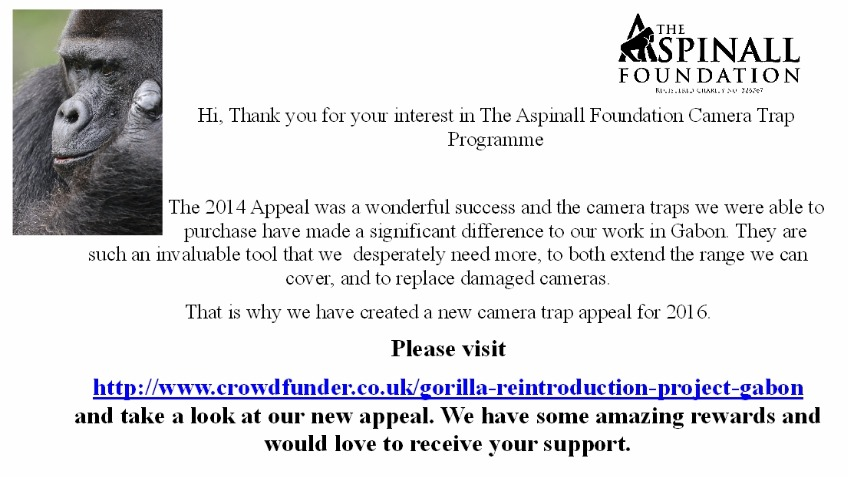 Aspinall Camera Trap Programme