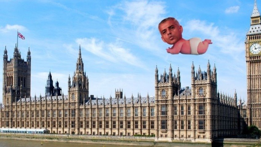 Giant Sadiq Khan 'baby balloon to fly over London