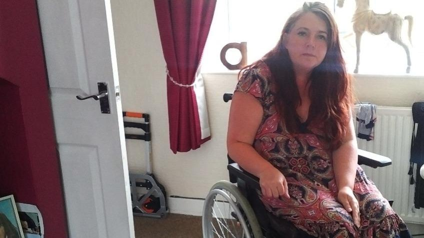 A new wheelchair & extra room for help for family