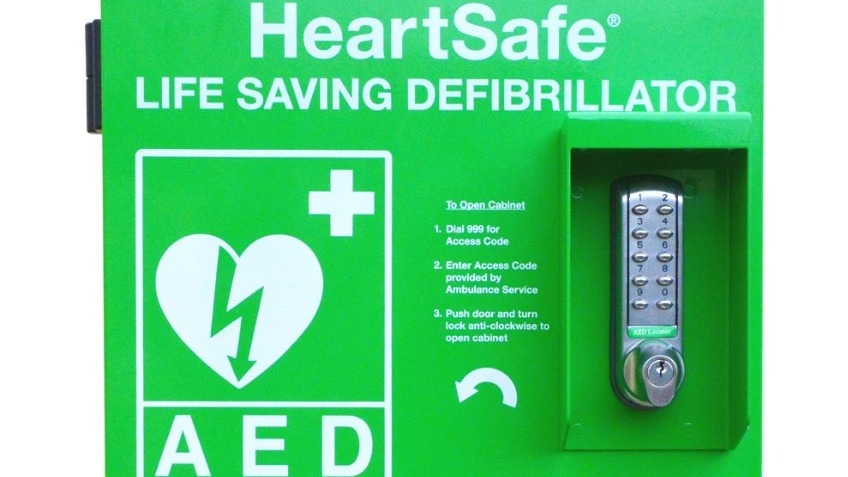 A life saving defibrillator station for Treloggan!